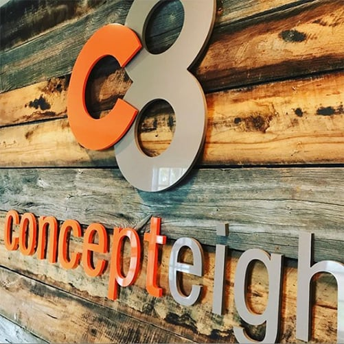 concept eight wall logo